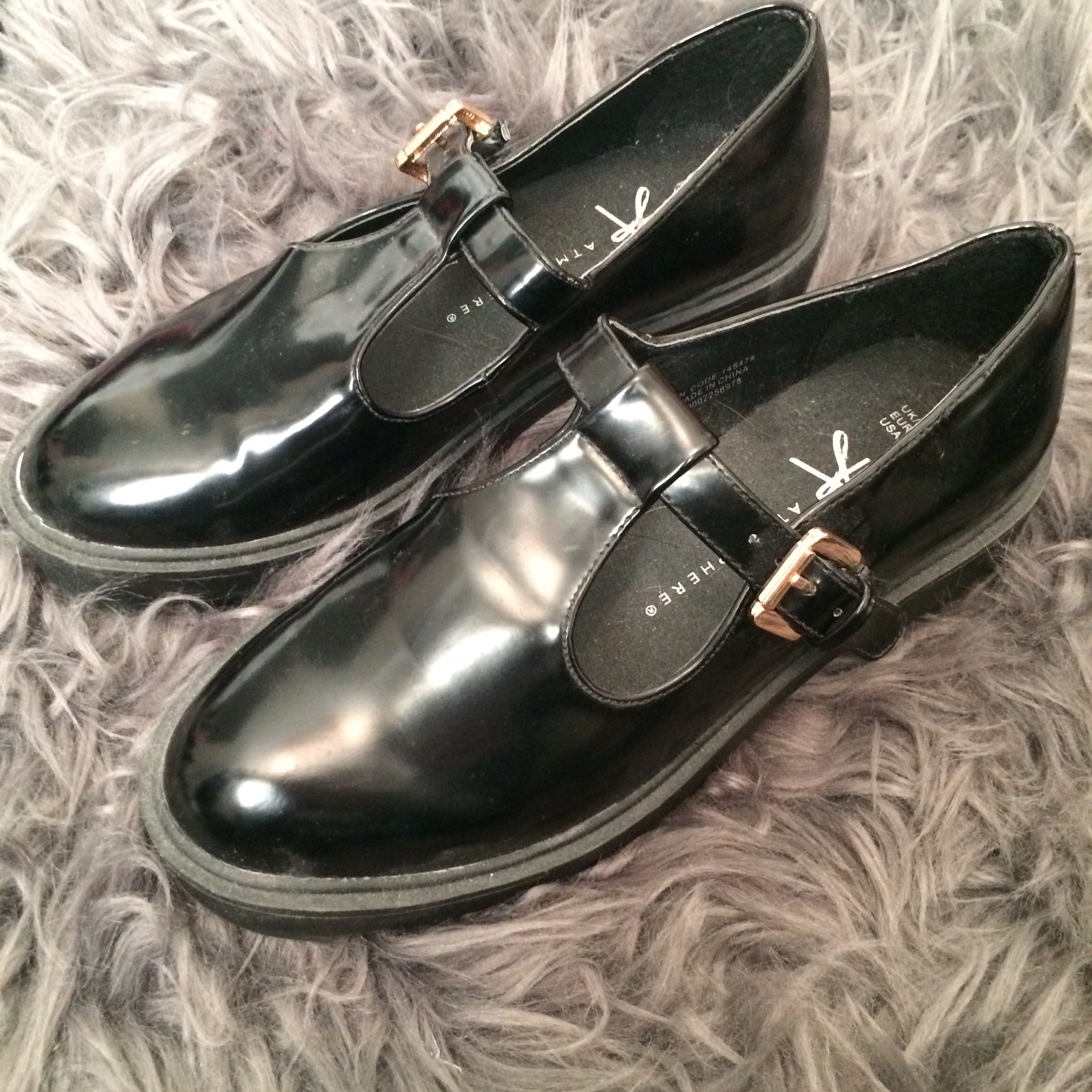 Primark patent school girl style shoes