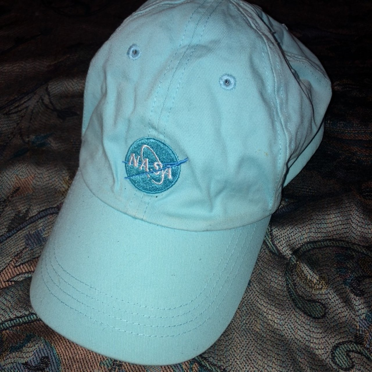 1bd4cd32289 Beige Polo hat Adjustable Never used.  10.50 · Very cute baby blue NASA