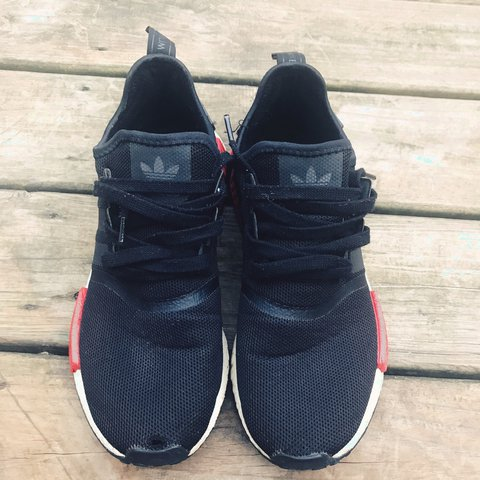 0c7fd3b2812c2 Adidas nmd r1 bred men s size 10.5 Small hole on the right - Depop