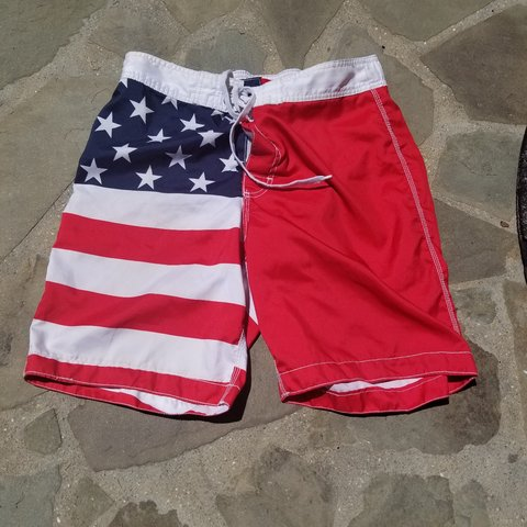 a7f2578efe @mosart. 8 months ago. Maryland, US. American flag swim trunks by old navy  ...