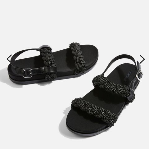 e2814a9f1 Topshop black rope sandals size 5. Brand new never worn. 🖤 - Depop