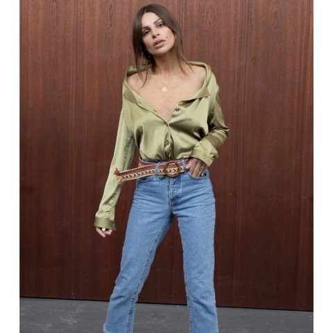 b01fb767536 Never Fully Dressed Chester shirt in Khaki (includes neck a - Depop