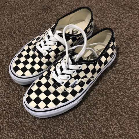 1f204e07dd Check vans authentic size 3! Worn twice and in amazing wear - Depop