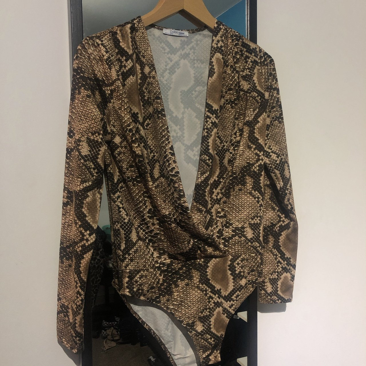f439d94d1c7a75 Zara snake print bodysuit! Perfect condition! Size