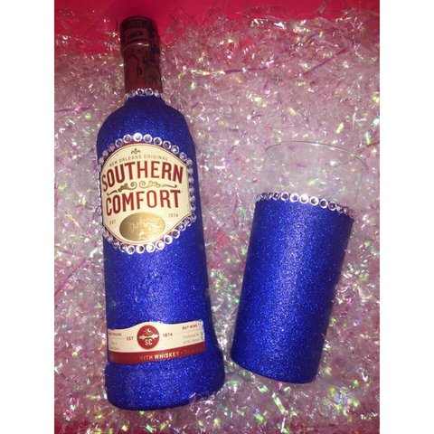 Glitter Southern Comfort 70cl And Tumbler Set Can Be Done Depop