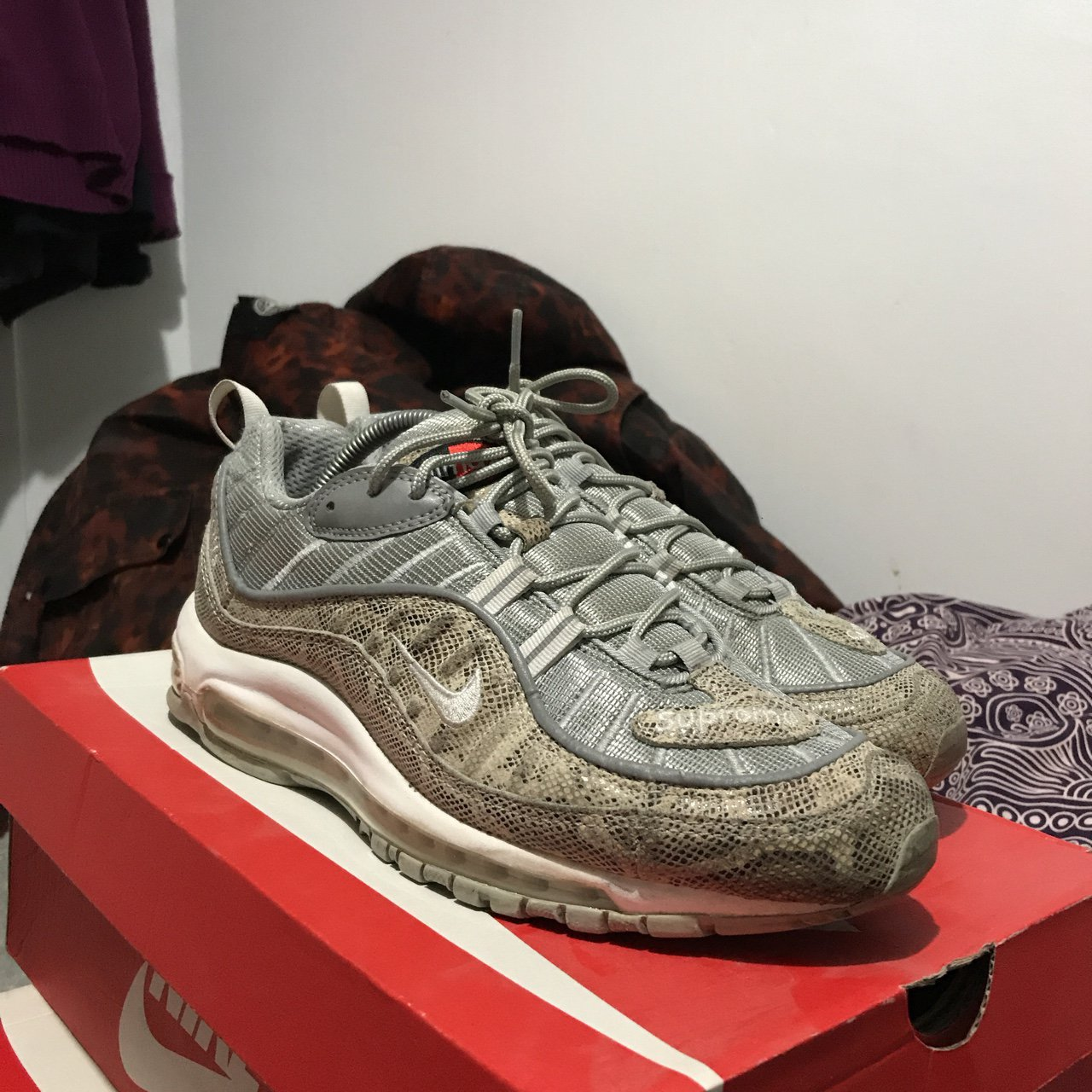 official photos f7fa9 27c46 zantre. last year. London, United Kingdom. Nike air max 98 supreme snake  skin ...