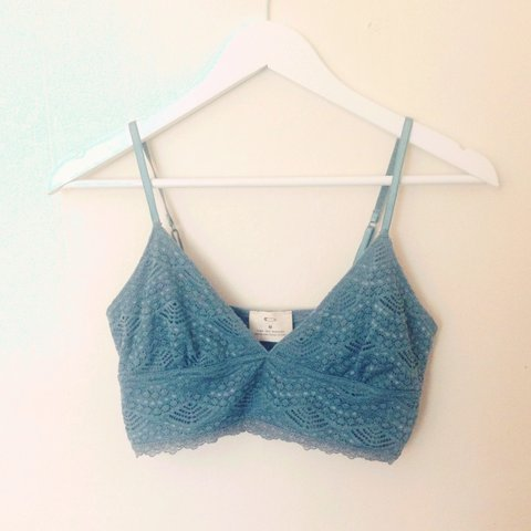 28b1cd1514 Urban outfitters teal blue lace crop top bralet. Never been - Depop