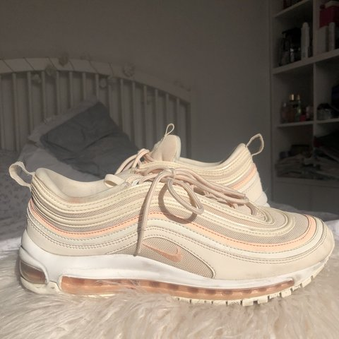 9e30375bca @annagboyle. 9 months ago. London, United Kingdom. Nike air max 97's peach  colour good condition a few marks size 8
