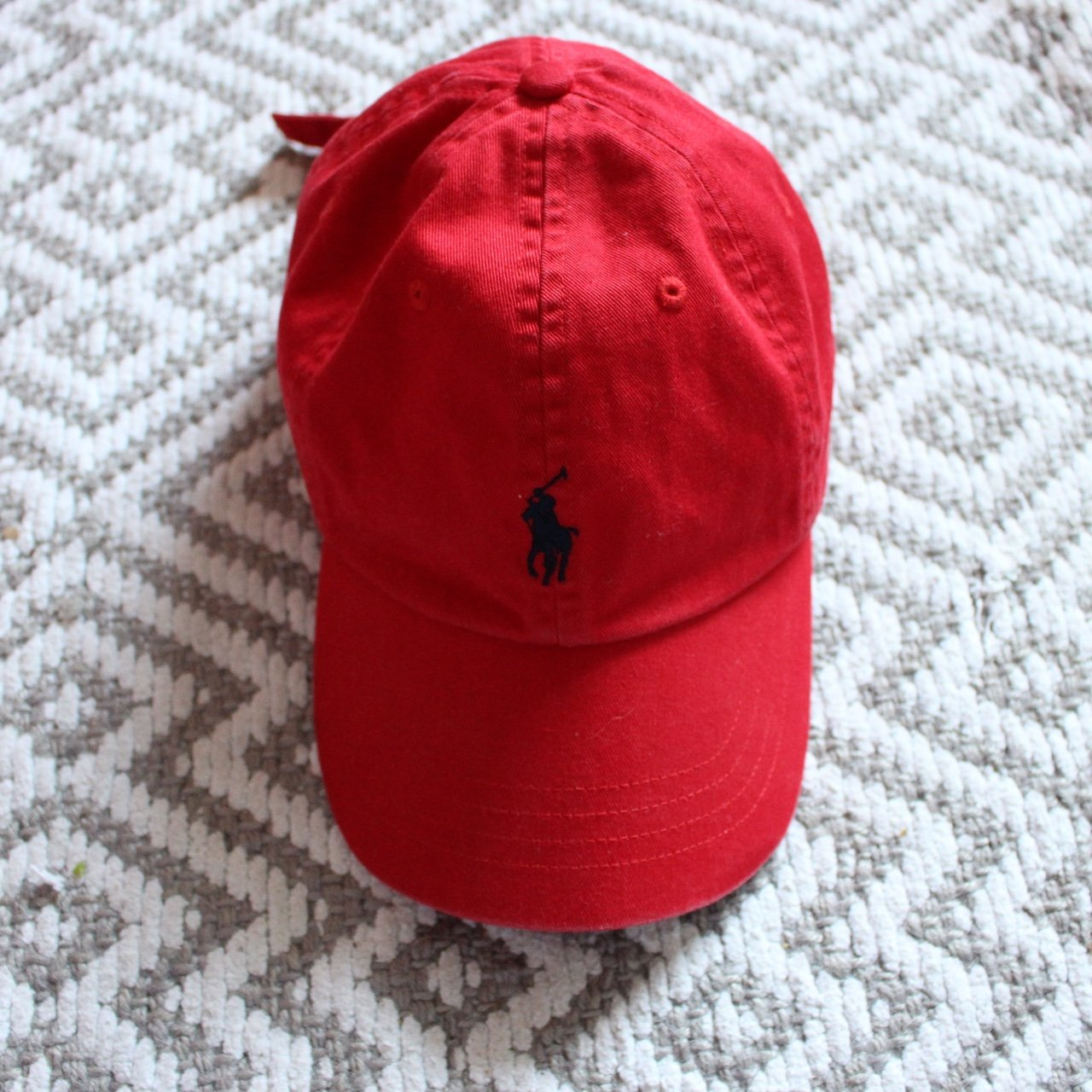 Vintage Ralph Lauren Polo Hat in Red FREE SHIPPING - Depop 922e1100ff88