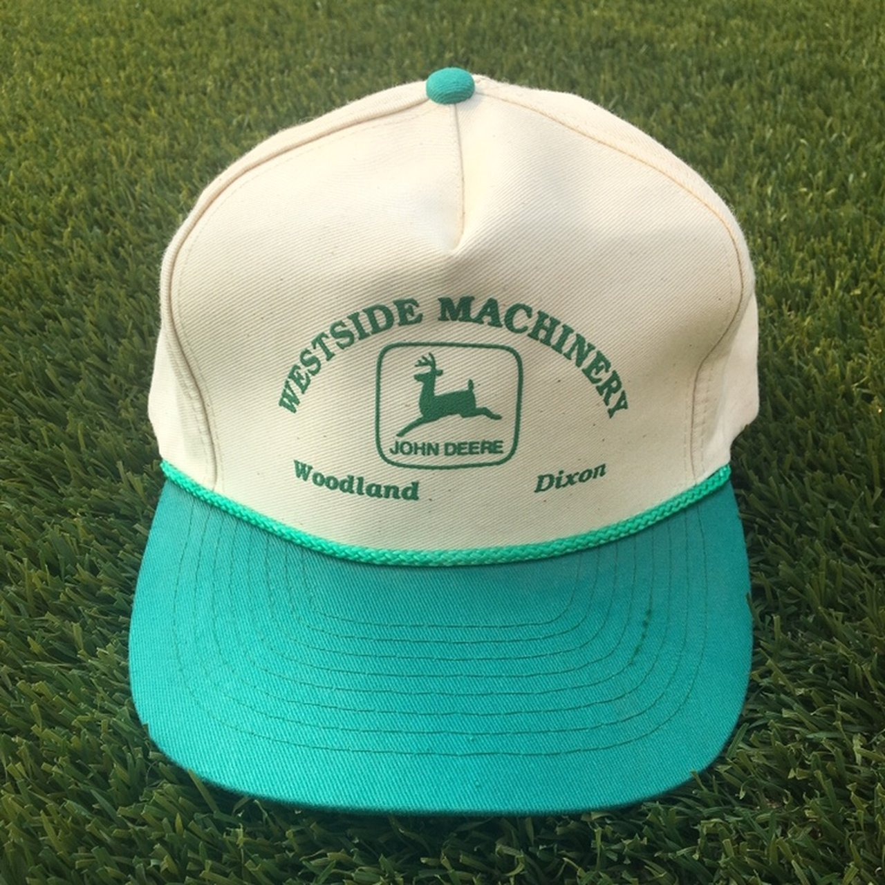Vintage Two Tone John Deere SnapBack Hat. Super clean flaws! - Depop 8d69a189df90