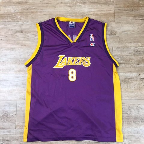 035a72d37b94 Vintage Kobe Bryant Champion Los Angeles Lakers Jersey on XL - Depop