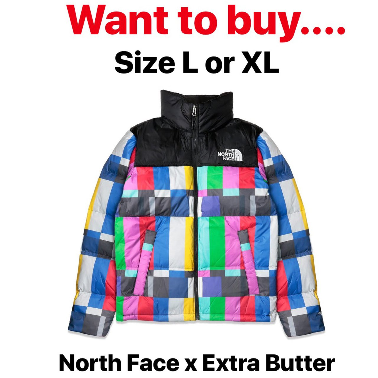 "Want to buy The North Face x Extra Butter ""Technical Nuptse - Depop c42e0579e"