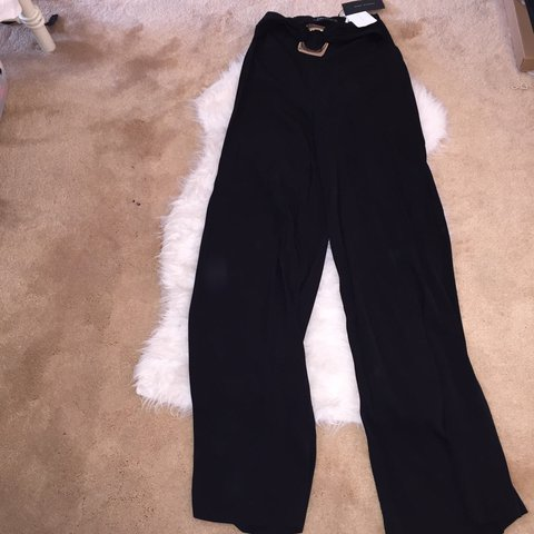cd1bb36b @maddisonhs19x. 10 months ago. West Bromwich, United Kingdom. Zara black wide  leg palazzo trousers high waist. Never worn, brand new with tag.