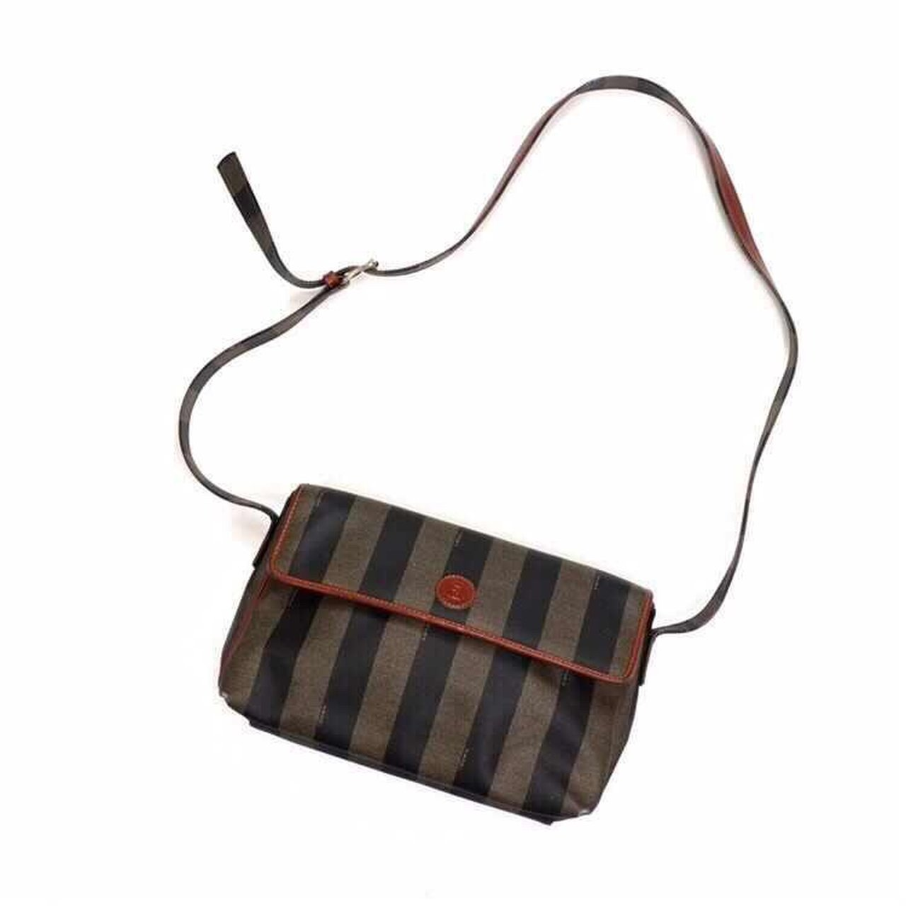 72489bce9da6 Vintage Fendi Roma striped handbag. Leather adjustable Fendi - Depop