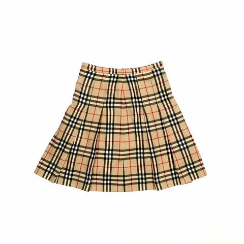 a1b7717156 Vintage Burberry wool nova check skirt. Quality wool Size 30 - Depop