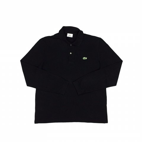 33086ea63 Vintage Lacoste long sleeve polo shirt. Classic embroidered - Depop