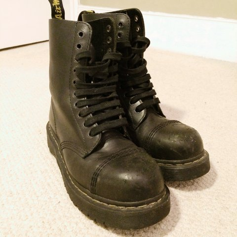 1562e1007702 Second hand vintage Women s Dr Martens AirWair Steel toe 10 - Depop