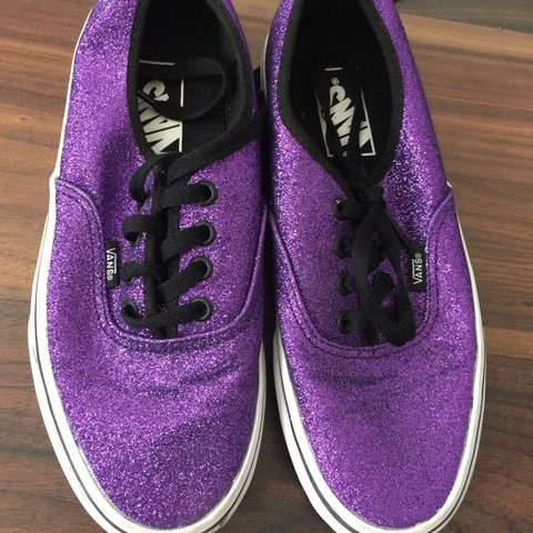 9f55cf640c0ce5 Sparkly purple Vans size 5 1 2 Smoke free Pet free home - Depop