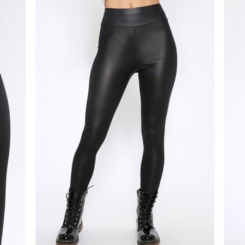 b765b7e88f713e @_melisagray. 5 months ago. Leyland, United Kingdom. Black Wet/leather Look  High Waist Leggings Brand new with tags, never worn