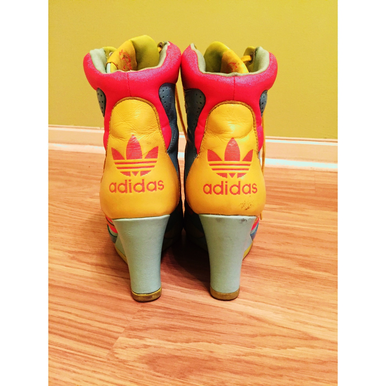 Adidas! Originals! Jeremy Scott high heel lace up Depop