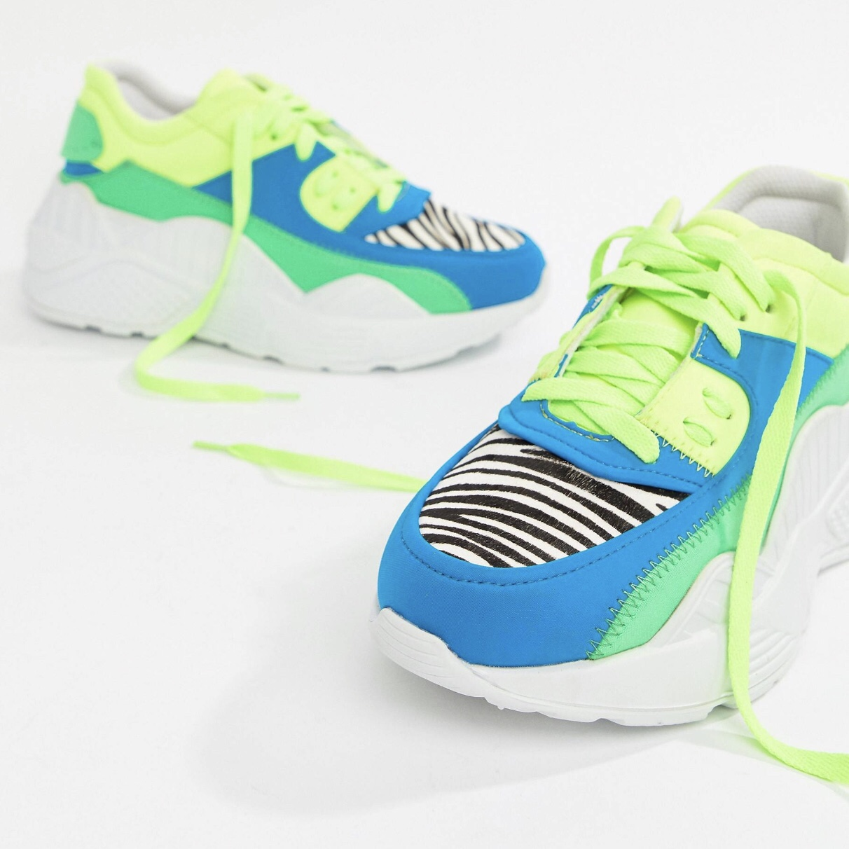 Jeffrey Campbell neon chunky trainer
