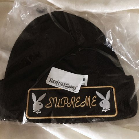 1e9f2353a68 Supreme X Playboy Patch Beanie - Depop