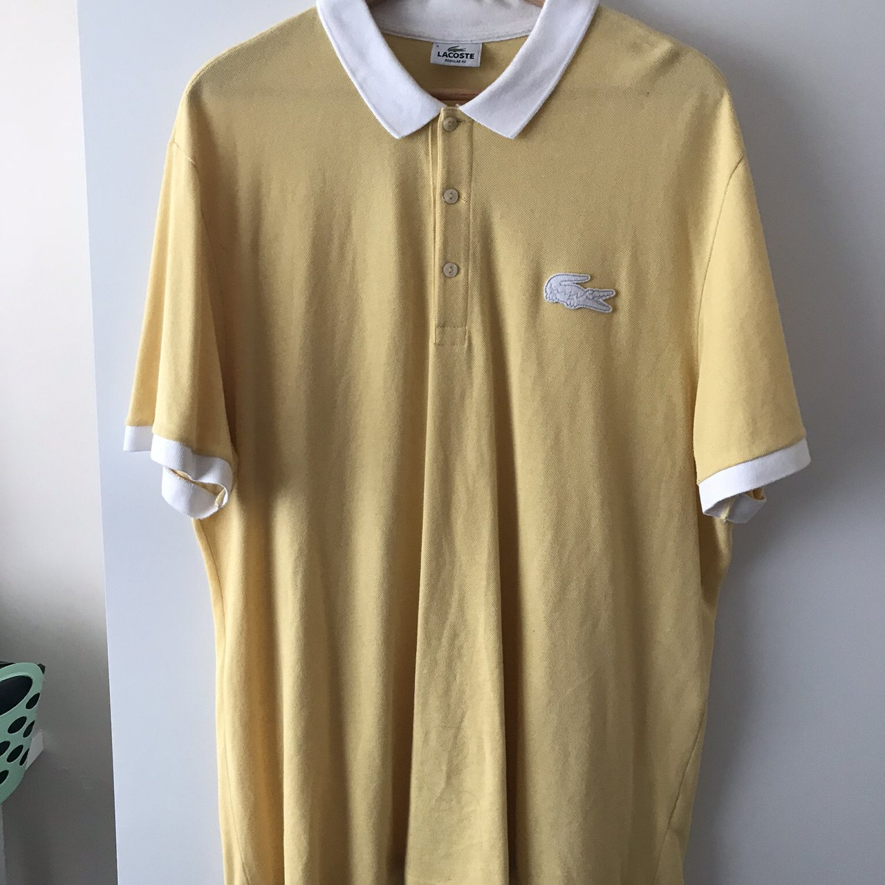 bb7d4436 Lacoste Big Logo Polo Size 8 Xxl Regular Fit Depop