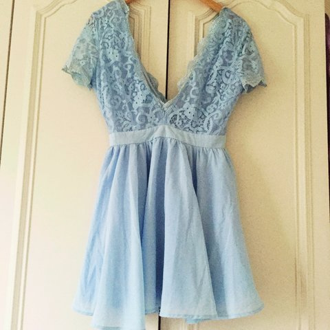 3ee776132f @lauraelsa. 3 years ago. Darlington, Darlington, Darlington, UK. Blue Missguided  Skater Dress. Lace top ...