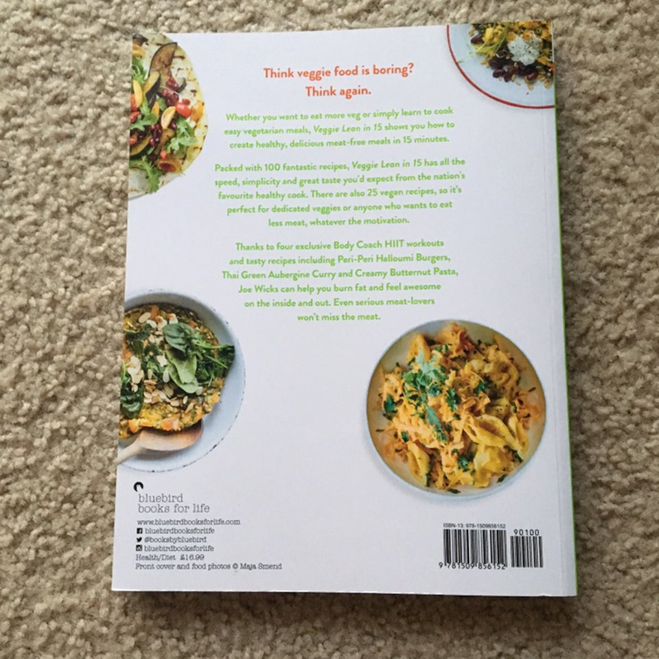 Joe Wicks Lean In 15 Veggie Cook Book Brand New Depop