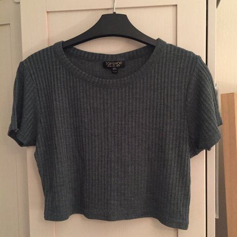 15a465915d8 @emilyhamblin. last year. London, UK. Khaki Crop T-Shirt Size 10. TOPSHOP .