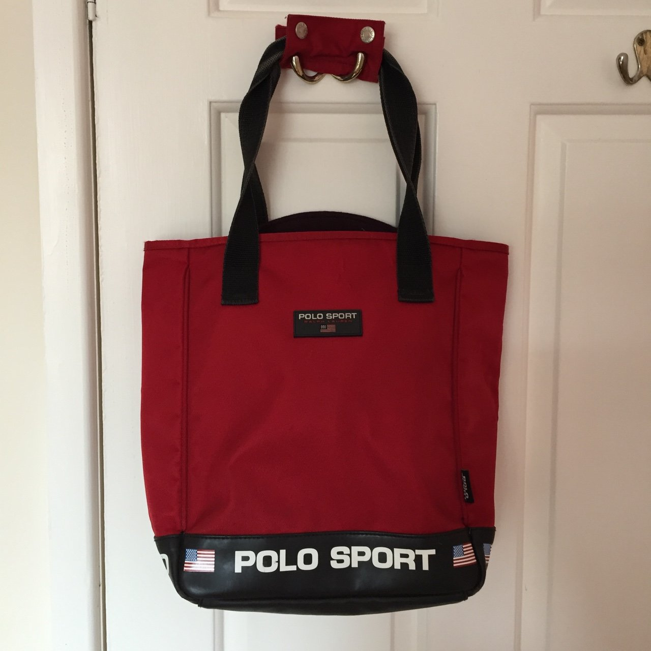 PRICE DROP. Vintage red Ralph Lauren polo sport small tote a - Depop e0df90fdf3386