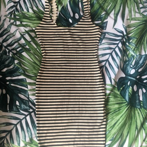 33269be78e Authentic American Apparel sun dress in cream black. this my - Depop