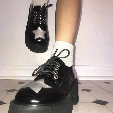ef1e7b4a8ccb Sold out Unif excuse platforms~ Only worn once ! Size 6 - Depop