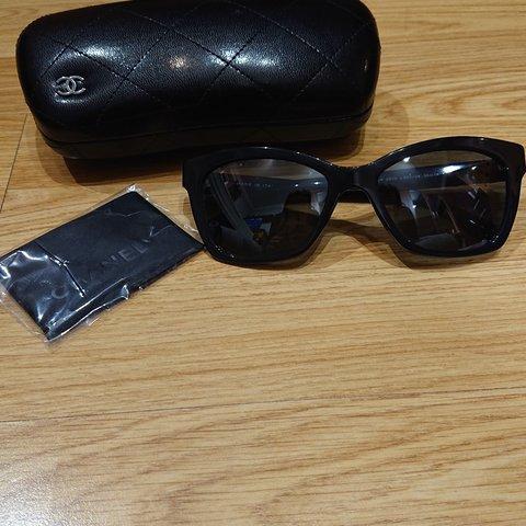 365c991ae09fb Genuine Chanel sunglasses. Worn once. Comes with case and - Depop