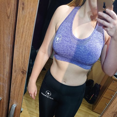 8e7ea14ac26 Purple just strong gym bra. Size small