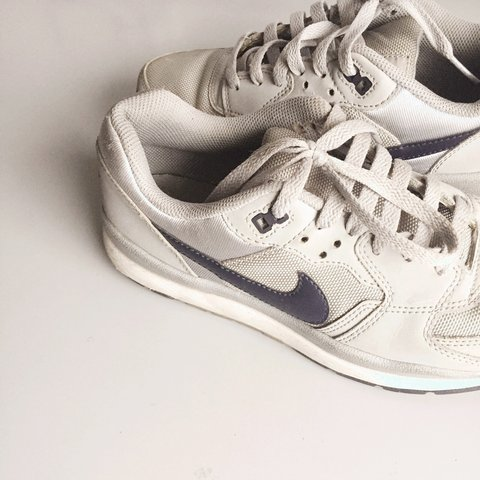 Used Grey Nike air windrunner trainers - Depop 452a90869