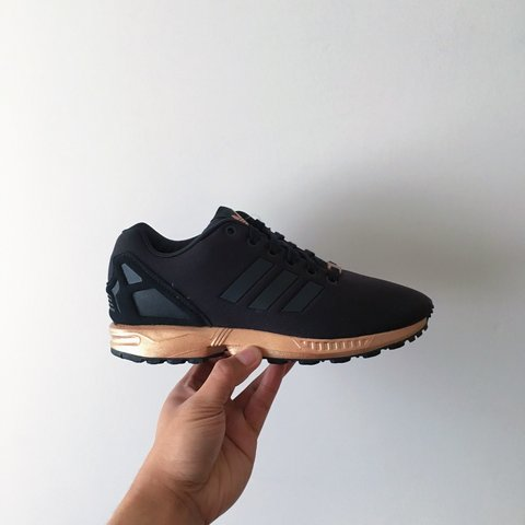 6c10fae8e259 Adidas ZX Flux Copper Black Gold