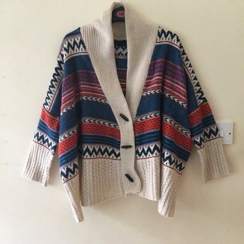 36d34dd0a Free shipping! Aztec XL cardigan. Baggy fit. I m moving so - Depop