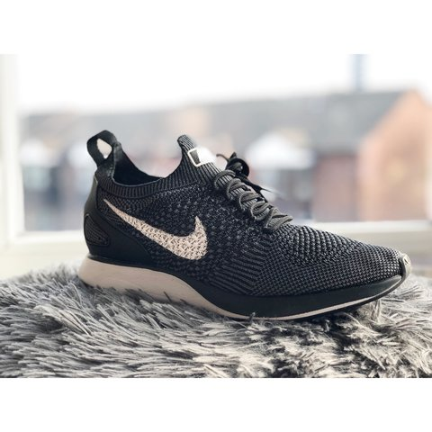 800ad124e0b9 Nike Air Zoom Mariah Flyknit Racer in Black and White UK 6 - Depop