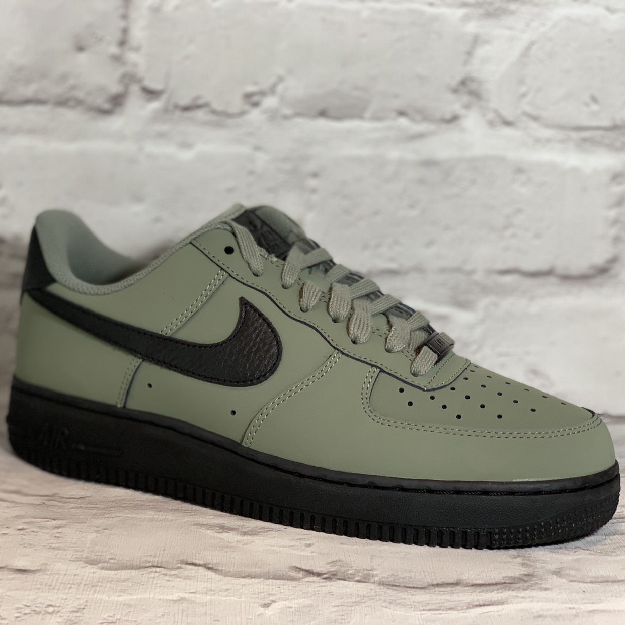 Nike Air Force 1 '07 greenblack UK Size 7 Available Depop