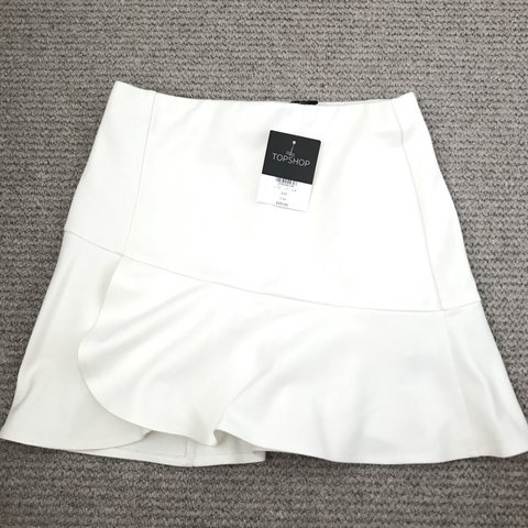 32bb8bf66c Topshop white frill skirt size 4 Never worn, new with tags - Depop