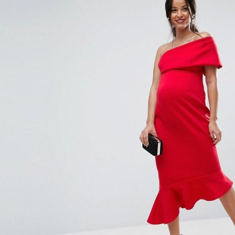 608b91ed21d ASOS Red Maternity dress size 10 Worn once immaculate  asos - Depop