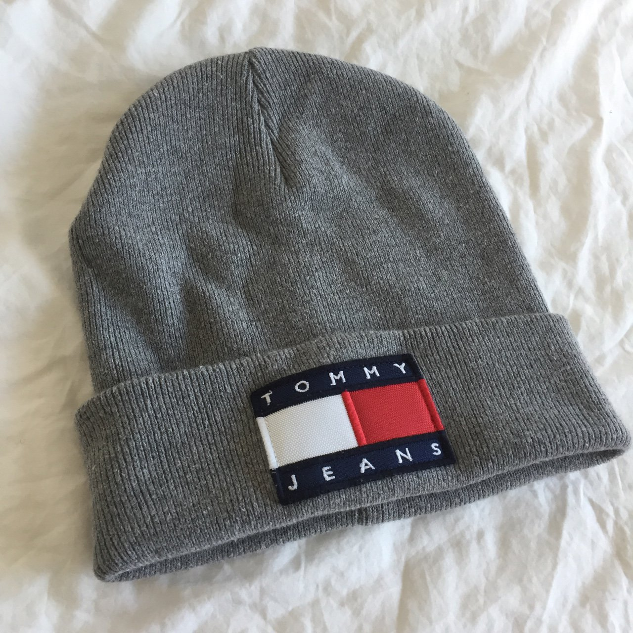 9f8bec41b12 Tommy Jeans beanie in Gray. Like new condition. Unisex. - Depop