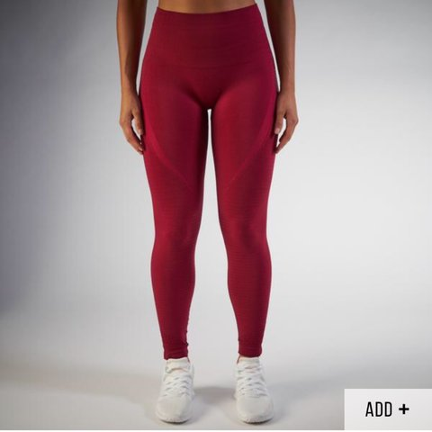 467e399553a52 Selling my Gymshark seamless leggings in the colour beet in - Depop