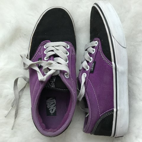 VANS Era purple and black shoes - used 824bf92c6