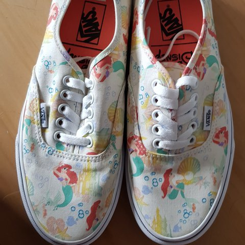 3c5339bda7 Authentic disney little mermaid vans brand new without tags - Depop