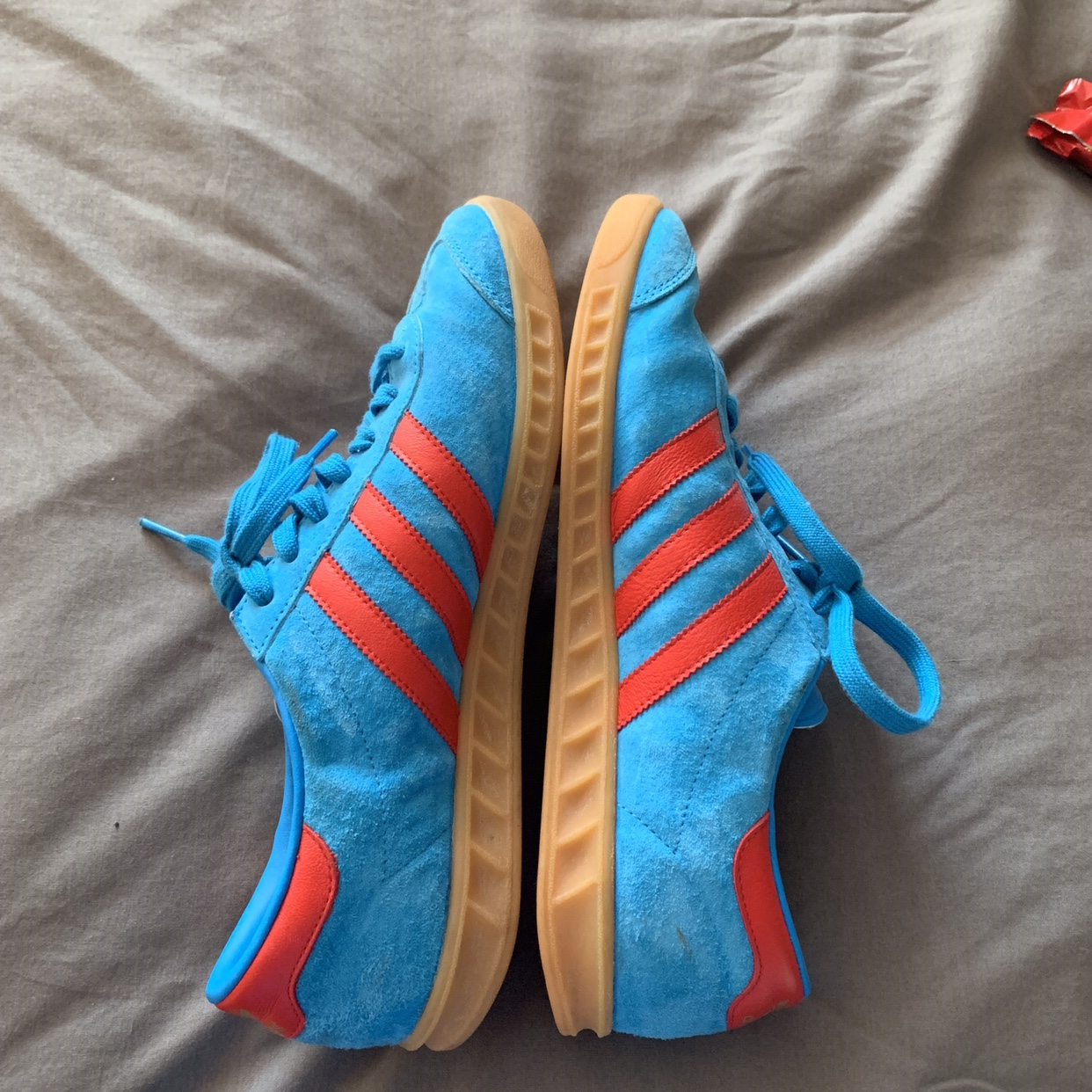 Monica Ejecutante compensar  Adidas Hamburg blue and red colour-way size 9. Wore... - Depop
