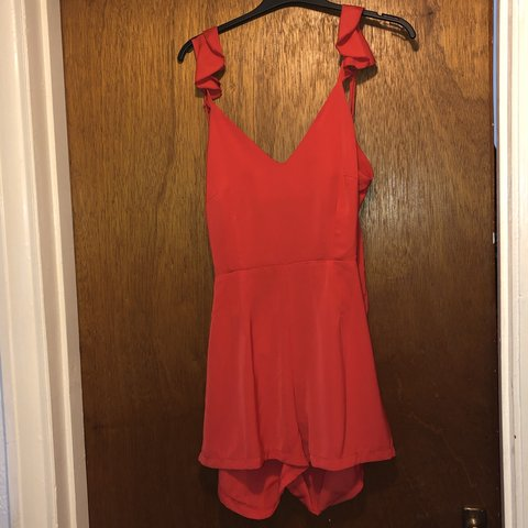 5783d995cdf5 Boohoo petite red open back playsuit!!! still with tags!!!!! - Depop