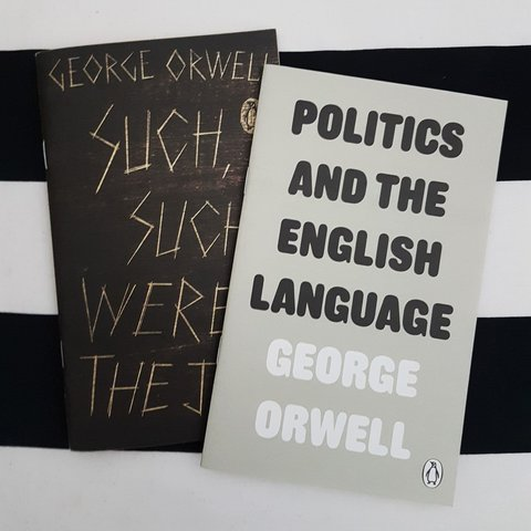 listed on depop by georgiarts two little george orwell booklets