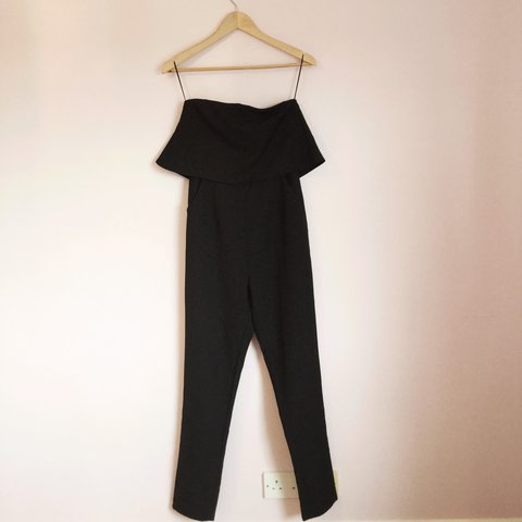 d7206c6d3f62 Missguided double layer bandeau jumpsuit in black brand new